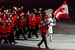 Olympic team of Canada during the parade of nations at the Opening ceremony of the 2014 Sochi Olympic Winter Games at Fisht Olympic Stadium on February 7, 2014 in Sochi, Russia. Photo by Victor Fraile / Power Sport Images