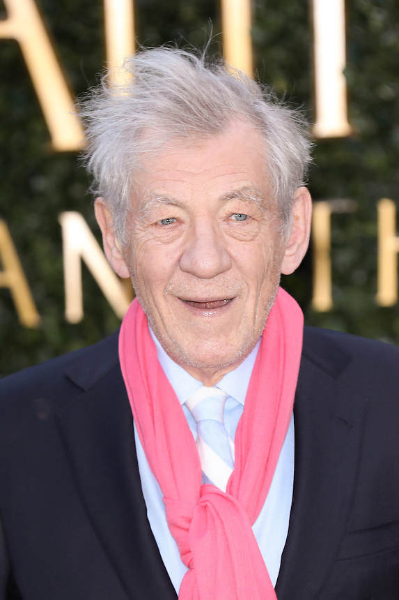 """Sir Ian McKellan<br /> arrives for the """"Beauty and the Beast"""" screening, St.James', London.<br /> <br /> <br /> ©Ash Knotek  D3234  23/02/2017"""