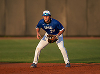 IMG Academy Ascenders first baseman Chase Ingram (20) during a game against the Montverde Academy Eagles on April 8, 2021 at IMG Academy in Bradenton, Florida.  (Mike Janes/Four Seam Images)