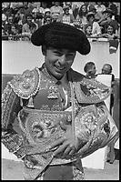 20 Juin 1971. Vue du torero Paquirri entrant dans les arènes de Toulouse.