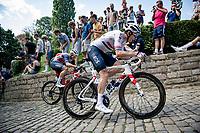 British Champion Ben Swift (GBR/INEOS Grenadiers) up the infamous Muur van Geraardbergen / Kapelmuur<br /> <br /> 17thBenelux Tour 2021 (2.UWT)<br /> (Final) Stage 7: from Namur to Geraardsbergen (178km)<br /> <br /> ©kramon