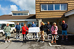 Presentation of a cheque for €12.228.75, the proceeds of a Go fund Me page for the Cheltenham racing festival by Elaine Moran to Bearnie Costello, Deputy Manager Listowel Kerry Parents  & Friends on Monday last. Also in picture is Marthy Woulfe, Christy Walsh, Pat Healy, Mary Keane, Margaret McAuliffe & Berkie Browne.