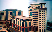 """Michael Graves: Model """"Aventine"""" Project, March 1986 for $190 Million Office-Hotel, San Diego.  Photo '86."""