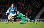Lewis Macleod closes down keeper Darren Hill