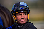 ARCADIA, CA - FEBRUARY 10: Kent Desormeaux at the Thunder Road Stakes at Santa Anita Park on February 10, 2018 in Arcadia, California. (Photo by Alex Evers/Eclipse Sportswire/Getty Images)