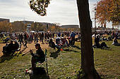 """October 30, 2010<br /> Washington DC<br /> District of Columbia<br /> <br /> Comedians Jon Stewart and Stephen Colbert entertained a huge crowd at the """"Rally to Restore Sanity"""" and """"Keep Fear Alive"""" to poking fun at the nation's ill-tempered politics, fear-mongers and doomsayers.<br /> <br /> Part comedy show, part pep talk, the rally drew together tens of thousands stretched across an expanse of the National Mall, a festive congregation of the goofy and the politically disenchanted.<br /> <br /> Going home."""