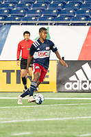 FOXBOROUGH, MA - OCTOBER 16: Maciel #6 of New England Revolution II during a game between North Texas SC and New England Revolution II at Gillette Stadium on October 16, 2020 in Foxborough, Massachusetts.