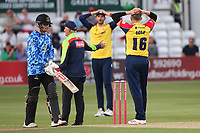 Frustration for Sam Cook of Essex as a catch is taken but a no-ball is given during Essex Eagles vs Sussex Sharks, Vitality Blast T20 Cricket at The Cloudfm County Ground on 15th June 2021