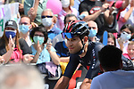 Filippo Ganna (ITA) Ineos Grenadiers arrives at sign on before the start of Stage 20 of the 2021 Giro d'Italia, running 164km from Verbania to Valle Spluga-Alpe Motta, Italy. 29th May 2021.  <br /> Picture: LaPresse/Gian Mattia D'Alberto   Cyclefile<br /> <br /> All photos usage must carry mandatory copyright credit (© Cyclefile   LaPresse/Gian Mattia D'Alberto)