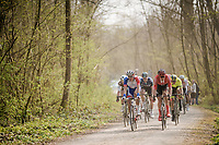 peloton over the Plugstreets<br /> <br /> 81st Gent-Wevelgem 'in Flanders Fields' 2019<br /> One day race (1.UWT) from Deinze to Wevelgem (BEL/251km)<br /> <br /> ©kramon