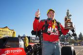 Doug Kalitta, Mac Tools, top fuel, victory, celebration, trophy