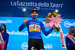 Ruben Guerreiro (POR) EF Pro Cycling retains the mountains Maglia Azzurra at the end of Stage 12 of the 103rd edition of the Giro d'Italia 2020 running 204km from Cesenatico to Cesenatico, Italy. 15th October 2020.  <br /> Picture: LaPresse/Marco Alpozzi | Cyclefile<br /> <br /> All photos usage must carry mandatory copyright credit (© Cyclefile | LaPresse/Marco Alpozzi)