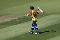 Jimmy Neesham of Essex leaves the field having been dismissed for 21 during Glamorgan vs Essex Eagles, Vitality Blast T20 Cricket at the Sophia Gardens Cardiff on 13th June 2021