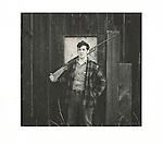 Man with shot gun, 1970's, Cammal, PA. Analog print 6x6.25. Agfa Brovira 111. 1/1