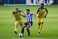Sheffield Wednesday's Massimo Luongo plays a ball under pressure from Watford's Tom Cleverley<br /> <br /> Photographer Alex Dodd/CameraSport<br /> <br /> The EFL Sky Bet Championship - Sheffield Wednesday v Watford - Saturday 19th September 2020 - Hillsborough Stadium - Sheffield <br /> <br /> World Copyright © 2020 CameraSport. All rights reserved. 43 Linden Ave. Countesthorpe. Leicester. England. LE8 5PG - Tel: +44 (0) 116 277 4147 - admin@camerasport.com - www.camerasport.com