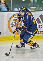 29 December 2013:  Canisius College Golden Griffins defenseman Logan Roe, a Junior from Fort Myers, FL, in action during the third period against the University of Vermont Catamounts at Gutterson Fieldhouse in Burlington, Vermont. The Catamounts defeated the Golden Griffins 6-2 in the 2013 Sheraton/TD Bank Catamount Cup NCAA Hockey Tournament. Mandatory Credit: Ed Wolfstein Photo *** RAW (NEF) Image File Available ***