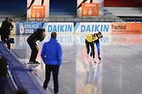 SCHAATSEN: HEERENVEEN: 22-11-2020, IJsstadion Thialf, Daikin NK ALLROUND, Marwin Talsma, Patrick Roest, ©foto Martin de Jong