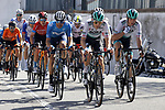 Lennard Kamna (GER) and Ide Schelling (NED) Bora- Hansgrohe during Stage 7 of the 100th edition of the Volta Ciclista a Catalunya 2021, running 133km from Barcelona to Barcelona, Spain. 28th March 2021.   <br /> Picture: Bora-Hansgrohe/Luis Angel Gomez/BettiniPhoto | Cyclefile<br /> <br /> All photos usage must carry mandatory copyright credit (© Cyclefile | Bora-Hansgrohe/Luis Angel Gomez/BettiniPhoto)