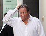 Pic shows: Mike Ashley  - Jeff Blue case at the High Court in London.<br /> <br /> Mike Ashley leaving the High Court with his PR and legal team<br /> <br /> <br /> Pic by Gavin Rodgers/Pixel 8000 Ltd