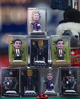 Miniature figures of Queen Elizabeth II, Mr Bean, Donald Trump & Policeman sit in a shop window as Beast from the East weather continues at City of London, London, England on 1 March 2018. Photo by Andy Rowland.