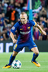 Andres Iniesta Lujan of FC Barcelona in action during the UEFA Champions League 2017-18 match between FC Barcelona and Juventus at Camp Nou on 12 September 2017 in Barcelona, Spain. Photo by Vicens Gimenez / Power Sport Images