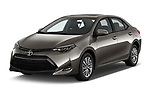 2017 Toyota Corolla XLE Premium 4 Door Sedan angular front stock photos of front three quarter view