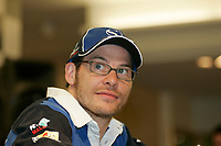 Formula 1 driver jacques Villeneuve signing autographs to his fans in a montreal downtown department store, June 8 2005
