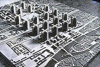 "Le Corbusier:  ""Voisin "" Plan, 1922-25.  Photo '75."