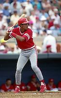 Cincinnati Reds Cesar Hernandez (58) during Spring Training 1993 at Joker Marchant Stadium in Lakeland, Florida.  (MJA/Four Seam Images)
