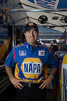 Mar. 16, 2013; Gainesville, FL, USA; NHRA funny car driver Ron Capps poses for a portrait during qualifying for the Gatornationals at Auto-Plus Raceway at Gainesville. Mandatory Credit: Mark J. Rebilas-