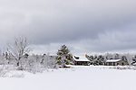 Northwoods home after a February snowstorm.