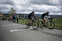 Elisa Longo Borghini (ITA/Trek Segafredo) and Anna Van der Breggen (NED/Boels Dolmans) up the Côte de La Redoute.<br /> <br /> 3th Liège-Bastogne-Liège-Femmes 2019 (1.WWT)<br /> 1 Day Race: Bastogne – Liège 138,5km<br /> <br /> ©kramon