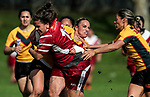 Billy-Jean Ale of Papakura charges toward the try line. Premier Women's Rugby League, Papakura Sisters v Manurewa Wahine, Prince Edward Park, Auckland, Sunday 13th August 2017. Photo: Simon Watts / www.phototek.nz
