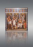 Roman mosaic of actors from the Casa del Poet Tragic (VI 8, 3,) Pompeii, inv 9986. Naples Archaeological Musum, Italy