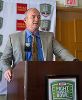 Jeff Tedford with University of CALifornia Berkeley at the Bay Area College Football Media Day/Luncheon at the Hotel Nikko in San Franciscofor Kraft Flight Hunger Bowl on July 30.2012. ( Photo by Norbert von der Groeben ) .