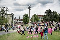 breakaway group crossing the local community of Spessa<br /> <br /> 104th Giro d'Italia 2021 (2.UWT)<br /> Stage 15 from Grado to Gorizia (147km)<br /> <br /> ©kramon
