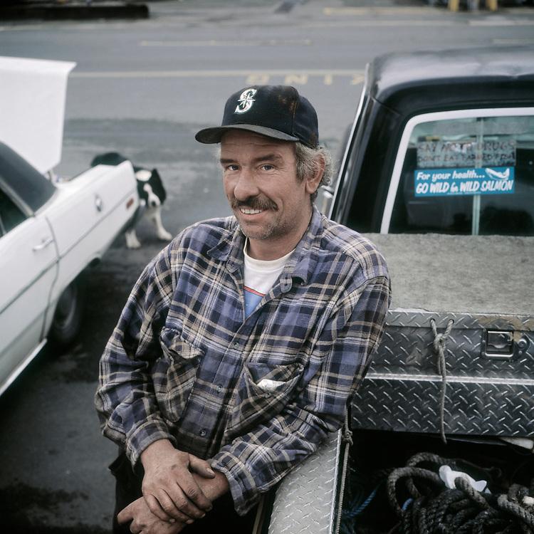 Bruce Miller, salmon fishing, Seattle,<br /> USA.