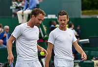 London, England, 30 june, 2016, Tennis, Wimbledon, Men's doubles: Matwe Middelkoop (NED) and his partner Wesley Koolhof  (NED) (R)<br /> Photo: Henk Koster/tennisimages.com