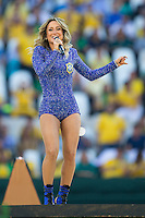 Local Brazilian singer Claudia Leitte sings at the FIFA World Cup Opening Ceremony