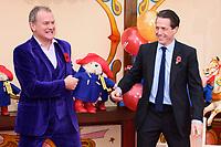 """Hugh Bonneville and Hugh Grant<br /> at the """"Paddington 2"""" premiere, NFT South Bank,  London<br /> <br /> <br /> ©Ash Knotek  D3346  05/11/2017"""