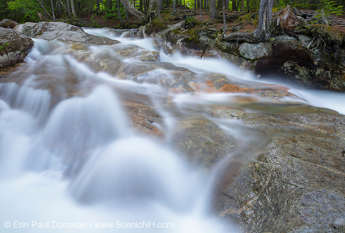 """Franconia Notch State Park - The Pemigewasset River just above """"The Basin"""" viewing area in Lincoln, New Hampshire USA during the spring months."""