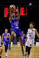 Kerwin Roach of the Wellington Saints shoots the ball during the NBL match between the Wellington Saints and the Auckland Huskies at TSB Bank Arena, Wellington, New Zealand on Friday 28 May 2021.<br /> Photo by Masanori Udagawa. <br /> www.photowellington.photoshelter.com
