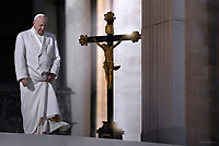 Pope Francis during of a weekly general audience at St Peter's square in Vatican.January 24,2018