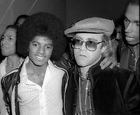 Michael Jackson Elton John at Studio 54 1978<br /> Photo By Adam Scull/PHOTOlink.net