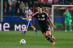 Bayer 04 Leverkusen´s Son Heung-Min during the UEFA Champions League round of 16 second leg match between Atletico de Madrid and Bayer 04 Leverkusen at Vicente Calderon stadium in Madrid, Spain. March 17, 2015. (ALTERPHOTOS/Victor Blanco)