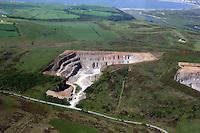 Aerial view of quarry near St Brides Major Bridgend