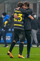 inter-napoli - milano 16 dicembre 2020 - Campionato Serie A 12° giornata - nella foto: Conte e Barella