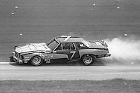 Al Holbert, #7 Chevrolet Monte Carlo, 1979 Firecracker 400 NASCAR race, Daytona International Speedway, Daytona Beach, FL, July 4, 1979.  (Photo by Brian Cleary/ www.bcpix.com )