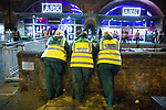 "© Joel Goodman - 07973 332324 . 16/11/2015 . Manchester , UK . Medics on standby at the event . Annual student pub crawl "" Carnage "" at Manchester's Deansgate Locks nightclubs venue . The event sees students visit several clubs over the course of an evening . This year's theme is "" Animal Instinct - unleash your beast "" . Photo credit : Joel Goodman"