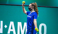 Rotterdam, The Netherlands, 27 Februari 2021, ABNAMRO World Tennis Tournament, Ahoy, Qualyfying match: Ballgirl with mask<br /> Photo: www.tennisimages.com/henkkoster